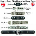 Security Locking Hasp Bar Van Shed Garage Door 4 Sizes  - Heavy Duty Steel