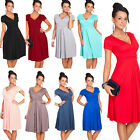Formal Women Summer Deep V Neck Party Cocktail Office Business Dress Bodycon