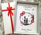Luxury Engagement Celebration Keepsake Card Handmade Personalised Boxed