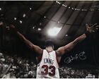 Steiner Patrick Ewing Signed Arms Out Facing Crowd 16x20 Photo
