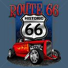 Route 66 T Shirt Mother Road Custom Hot Rod Flames Rat Rod Small to 6XL & Tall