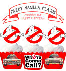 GhostBusters Party Cake EDIBLE Vanilla Cupcake Toppers PRE-CUT cup cake