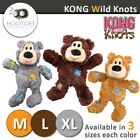 [3Colours, 3Sizes] KONG Wild Knots Bear -Pet Puppy Dog Plush Throw Play Dog Toy