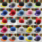 Casual Unisex Plain Adjustable Snapback Baseball Cap Men Blank Hip Hop Dance Hat