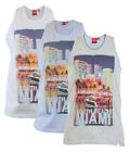 D555 Mens Casual Summer Gym Vests Sleevless Tank Top Miami South Beach
