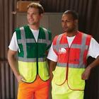 FIRST AID HI VIZ EXECUTIVE VEST WAISTCOAT - GREEN/YELLOW - LARGE & EXTRA LARGE