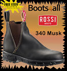 Rossi Work Boots Endura (340) Non Safety Brown Elastic Sided Boots