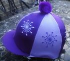 Riding Hat Silk Skull cap Cover LILAC & PURPLE * EXPLOSION * With OR w/o Pompom