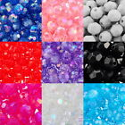 Acrylic Spacer Beads Transparent Faceted Round Ball 6mmx6mm M1095 Jewelry Making