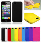 PLAIN SOFT SILICONE GEL RUBBER CASE COVER SKIN BLACK BLUE RED FOR IPHONE 6 PLUS