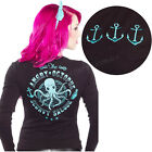 Angry Octopus Cardigan Pin Up Retro Rockabilly Punk Nautical Tattoo Sailor