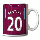 ASTON VILLA themed MUG personalised football shirt new 2014-2015 kit style gift