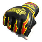 Rogue Leather Special Edition Fire Gloves - Black - [MMA UFC Fight Gear]