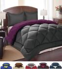 3 Piece: Down Alternative Reversible Comforter and Pillow Shams