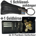 1 Wallet with Tresor and Secret compartment + 1 Keyfob With Leather bag