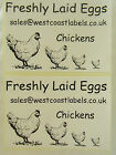 EGG BOX SELF ADHESIVE LABELS - 100mm x 70mm PERSONALISED TO YOUR CHOICE