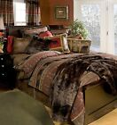 Rustic Queen Lodge Bear Country Bedding Set Brown Red Rustic Cabin Northern