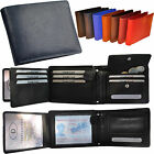 2 Pcs/Portemonnaie with 18 Compartments in Horizontal format fine Cattle leather