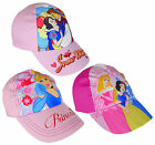 Girl's Disney Princess Baseball Hat Cap Snow White Cinderella 3 to 12 Years NEW