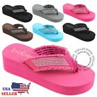 Kyпить NEW Women's Fashion Wedge Platform Thong Flip Flops Slip On Sandals Shoes на еВаy.соm