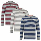 Tokyo Laundry New Men's Long Sleeve Henley Shirt Stripe Jersey Top DD4