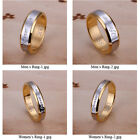 Men Women Forever Love Silver&18K Gold Plated Couple Wedding Band Rings Size6-10