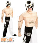 WWE Ray Mysterio + Mask Boys Fancy Dress Sports Wrestler Kids Childrens Costume