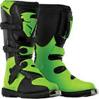 Thor Black/Flo Green Mens Dirt Bike Blitz Boots MX 2015