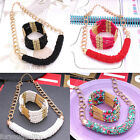 Ladies Fashion Lots Beads Chunky Bracelet & Statement Necklace Set For Women