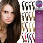 Pre Bonded Keratin Nail U Tipped Gule Indian Remy Human Hair Extensions 16''100S