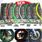 "Motorcycle 17"" Reflective Wheel Rim Stripe Tape Kawasaki Ninja 250R 300 500"