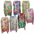 LADIES SUMMER PONCHO WOMENS BEACH KAFTAN COVER UP TOP PLEATED SARONG FREE SIZE