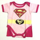 NEW Baby SUPERGIRL HERO Costume Dress Onesies Clothes Sizes 0-18 Months Old