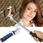 Wired Shutter Release Selfie Stick Pole Monopod for iPhone 6 5S 4S Galaxy S6 S5