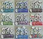 100pcs Czech Crystal Rhinestone Silver Rondelle Spacer Beads 6mm 8mm