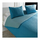 Modern Turquoise Blue Quilted Bedspread & Shams Set EUROPEAN STYLE