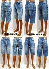 Men's JORDAN CRAIG ice blue aged wash acid stretch denim shorts style J2388S