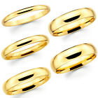 Kyпить Solid 10K Yellow Gold 2mm 3mm 4mm 5mm Comfort Fit Men Women Wedding Band Ring на еВаy.соm