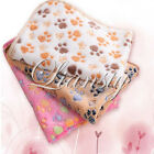 Pet Blanket Small Large Warm Paw Print Dog Puppy Cat Pig Fleece Soft Bed Mat