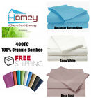 400TC 100% Organic Bamboo Luxury Bed Fitted Sheet - King Size