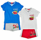 Boys Disney Pixar Lightning McQueen Button T-Shirt & Shorts Set 3 to 8 Years NEW