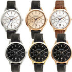 NEW Reflex Mens Date Watch Decorated Dial Black/Brown Leather Strap Round Case