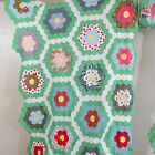 Vintage Antique Handmade Quilt Top Grandmothers Flower Garden Patchwork Quilt T