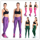 Women's High Waist sexy Leggings Sports Pants Elastic Yogo Gym  Fitness US1 JB