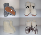 Women's/Mens Natural Leather Slippers Sheep Wool Sheepskin Shoes Boots All Sizes