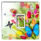 FLOWER light switch stickers, cover, skin, decal. (Choice of 10 images)