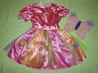 RAINBOW FAIRY BUTTERFLY+WINGS PRINCESS COSTUME Elf 92-98-104-116-122-128