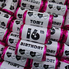 PERSONALISED MINI LOVE HEARTS SWEETS HAPPY BIRTHDAY PARTY BAG FAVOURS FILLERS
