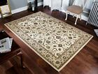 Kendra Woven 137 W Ivory Cream Beige Traditional Rug in various sizes and runner