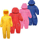 Regatta Puddle II All-in-one Childrens Rainsuit Kids Waterproof 5 - 6 yrs KW974